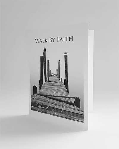 Inspirational Walk By Faith Greeting Cards