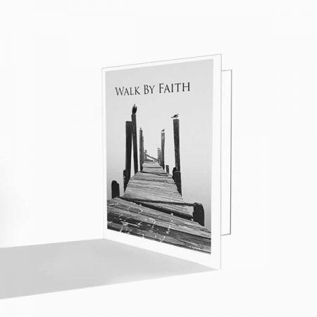 walk by faith greeting cards