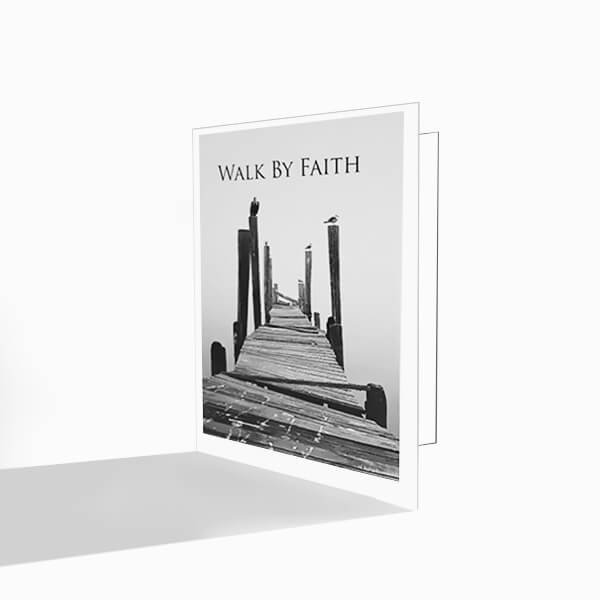 walk by faith greeting cards