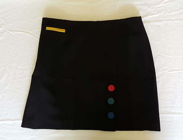 Anne Klein Women's a-Line Overlap Skirt with Buttons