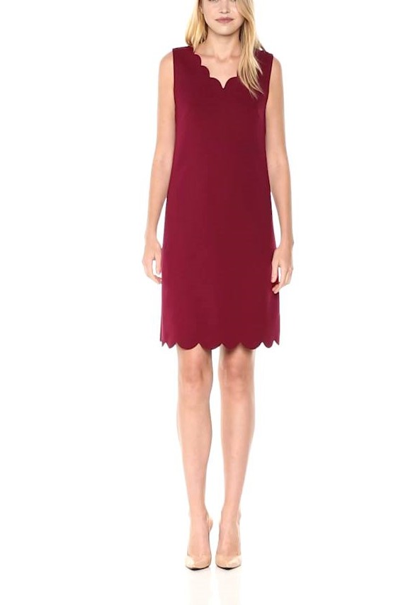 Nine West Scalloped neck women's dress