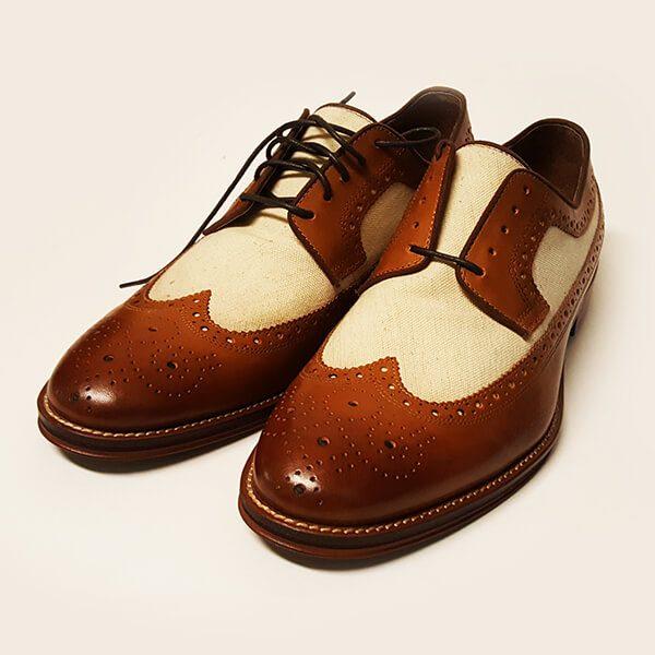 2c47781dba4 Johnston Murphy Conard Wingtip Calfskin Linen and Men Shoes
